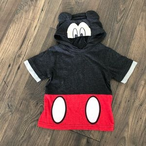 Mickey Mouse Hooded T Shirt Disney Kids 3T Top